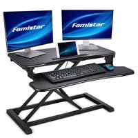 Famistar Upgrade Height Adjustable Standing Desk Converter Deals