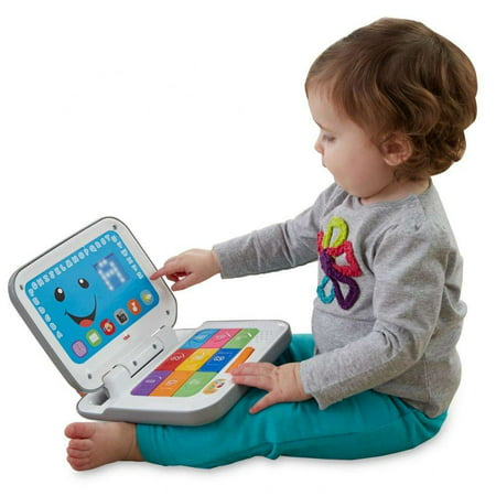 Fisher-Price Laugh & Learn Smart Stages Laptop, Grey Fisher Price Smart Cycle Cartridges