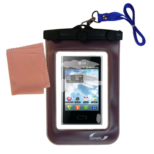 Gomadic Clean and Dry Waterproof Protective Case Suitablefor the LG E400 to use Underwater