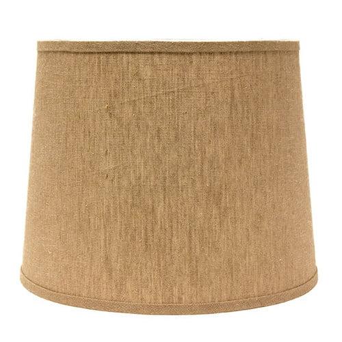 "Image of AHS Lighting 10"" Linen Drum Lamp Shade"