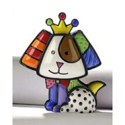 Mini Dog with Crown, Royalty, by Giftcraft, First edition Romero Britto Mini Collectibles By Romero Britto