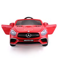 Veryke 12V Kids Ride On Car, Gift Children Electric Cars for Boys Girls, w/ Remote Control, MP3, LED Lights, USB, Red