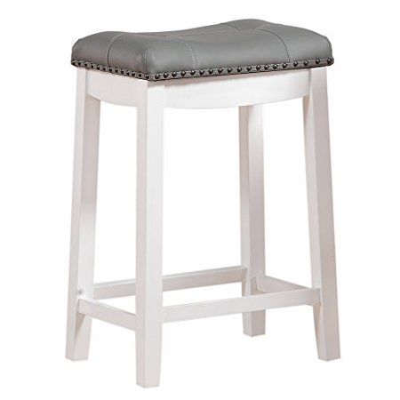 Angel Line Cambridge 24 Quot Padded Saddle Stool White W