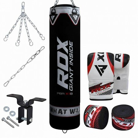 RDX Punching Bag FILLED MMA Boxing Hand Wraps Punch GLoves Set Heavy (Best Mma Gloves For Heavy Bag)