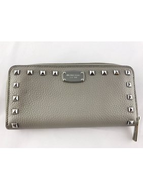 a9ac5cdc5f5d Product Image Michael Kors Jet Set Continental Zip Around Wallet Studded  Red Blue Gray Color: Red