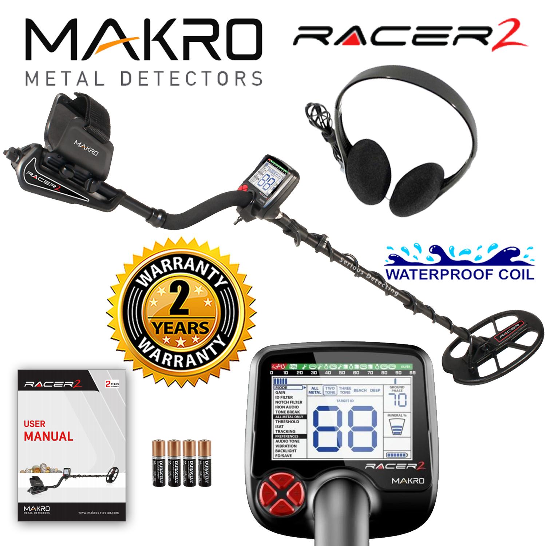 Makro Racer 2 Metal Detector Standard Package with 11inch...