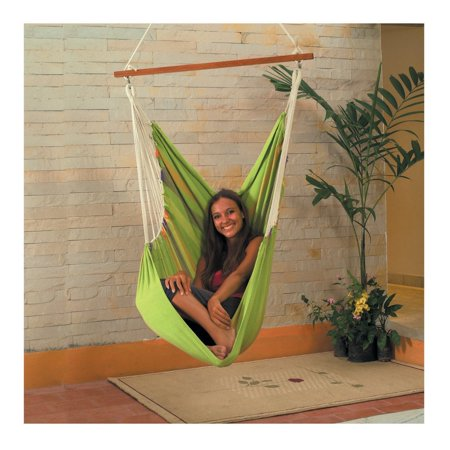Momentum Mats Cotton Fabric Hammock Swing (Green)