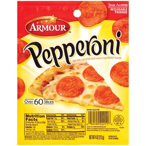 Armour  Pepperoni 4 Oz Peg