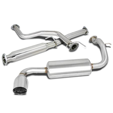 For 1988 to 1991 Honda Civic Catback Exhaust System 4