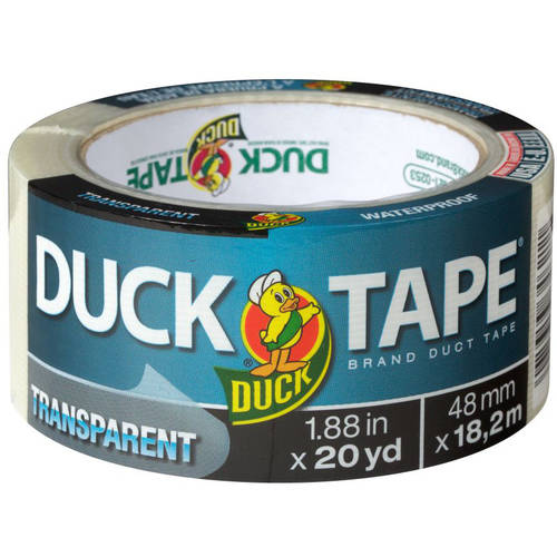 "Duck Tape Transparent Tape, Clear, 1.88"" x 20 yd"
