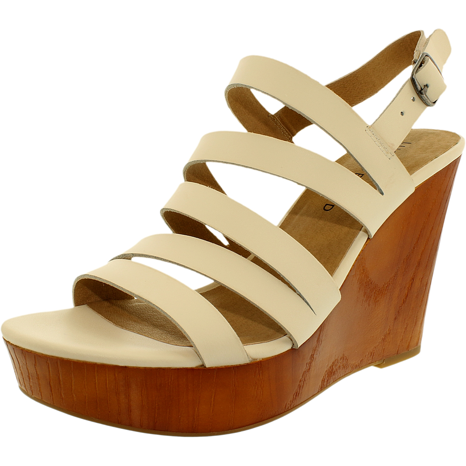Lucky Women's Larinaa Leather Linen Ankle-High Leather Sandal - 7M