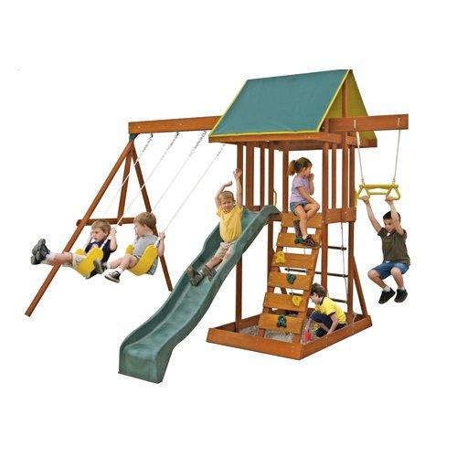 Kidkraft Wooden Swing Set Walmart Com