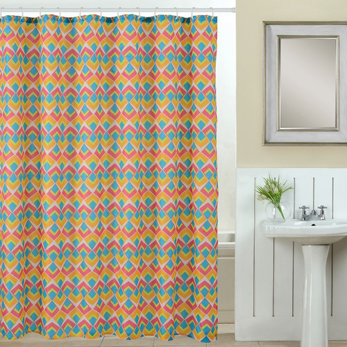 Luxury Home Abstract 13 Piece Printed Shower Curtain Set