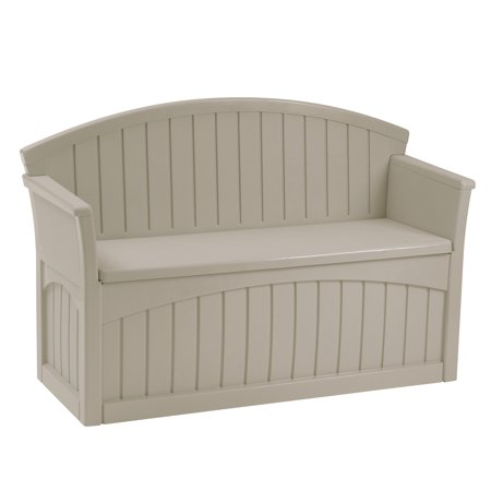 Suncast 50 Gallon Resin Patio Storage Bench, Light Taupe, PB6700 ()