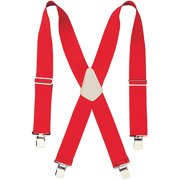 110RED 2 Wide Red Work Suspenders
