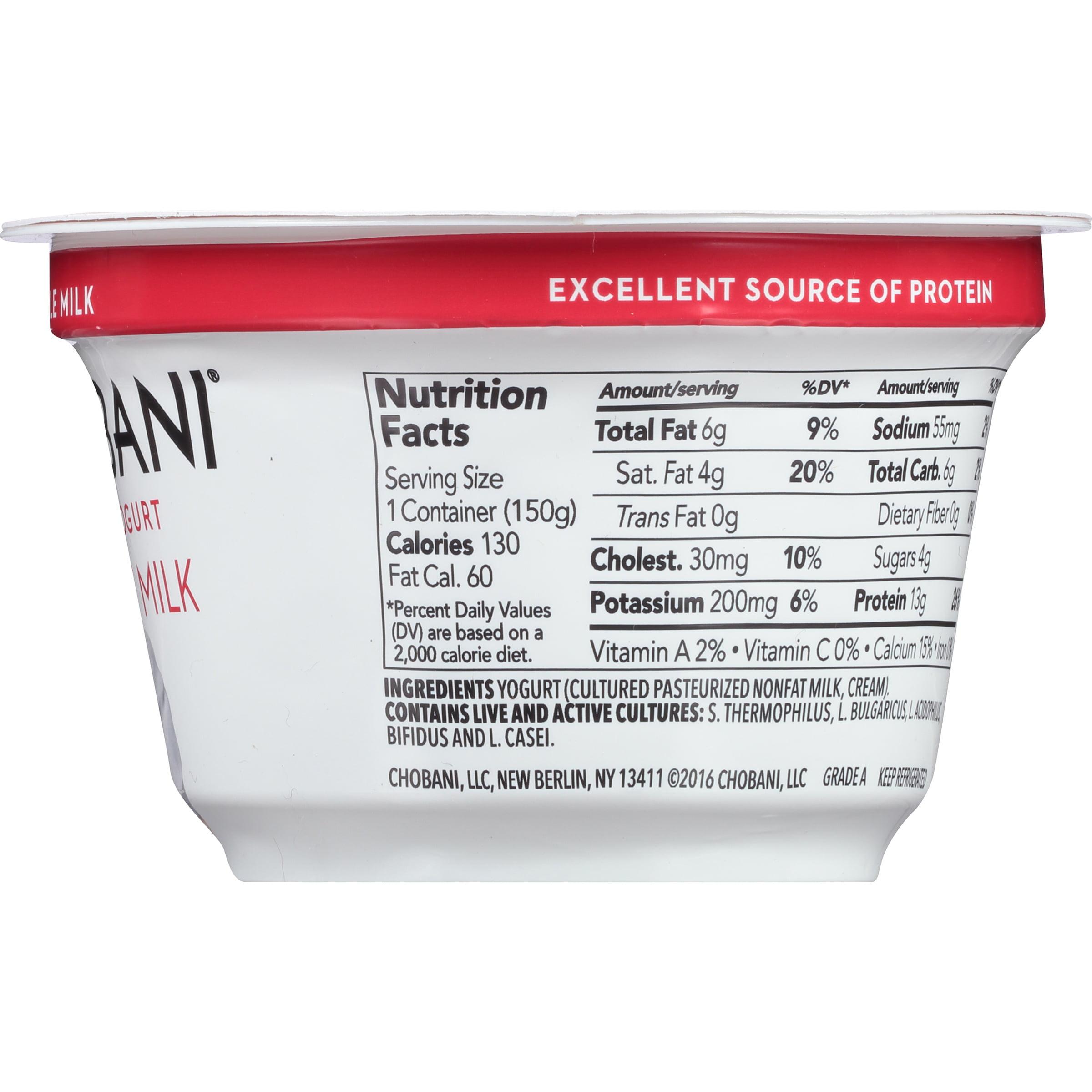 Chobani Nutrition Label – Besto Blog