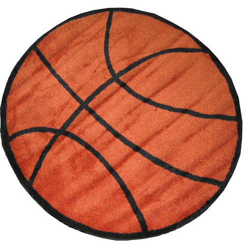 Fun Rugs Fun Shape Basketball Area Rug
