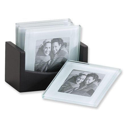- Set of 4 Photo Glass Coaster