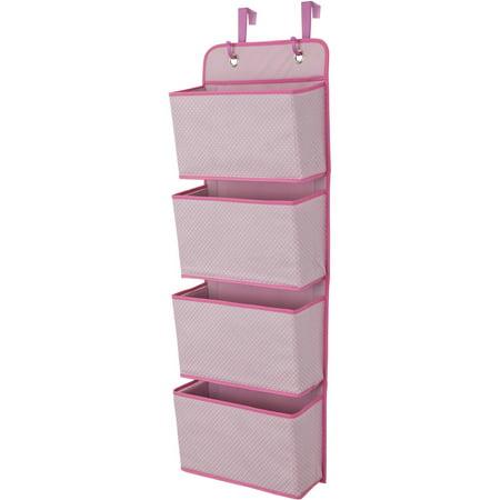 Delta Children 4 Pocket Hanging Wall Organizer Barely Pink