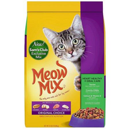 Meow Mix Original Choice Dry Cat Food, Heart Health & Oral Care Formula 24