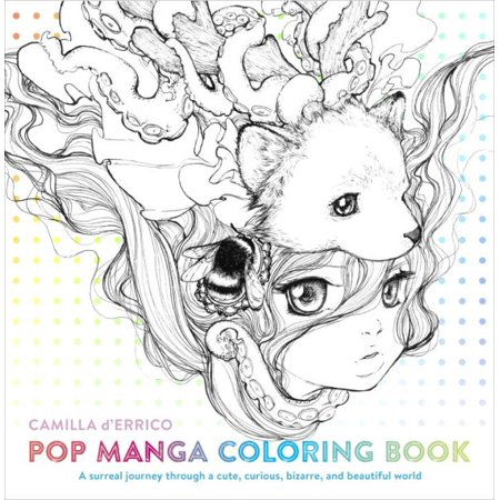Pop Manga Adult Coloring Book