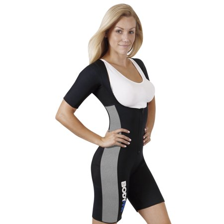 Body Spa Sauna Suit with Sleeves for weight loss Full Body GYM Sports Aerobic Neoprene Sauna Body Shaper makes you (Best Female Gym Bodies)