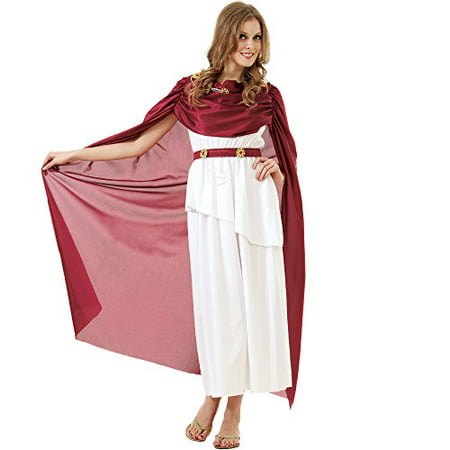 Boo! Inc. Roman Empress Women's Halloween Costume Queen Goddess Caesar Toga Dress (Roman Goddess Halloween Makeup)