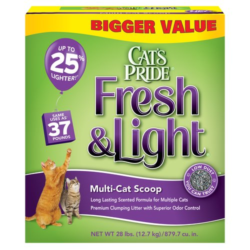Cat's Pride Fresh & Light Multi-Cat Scoop Cat Litter, 28 lb