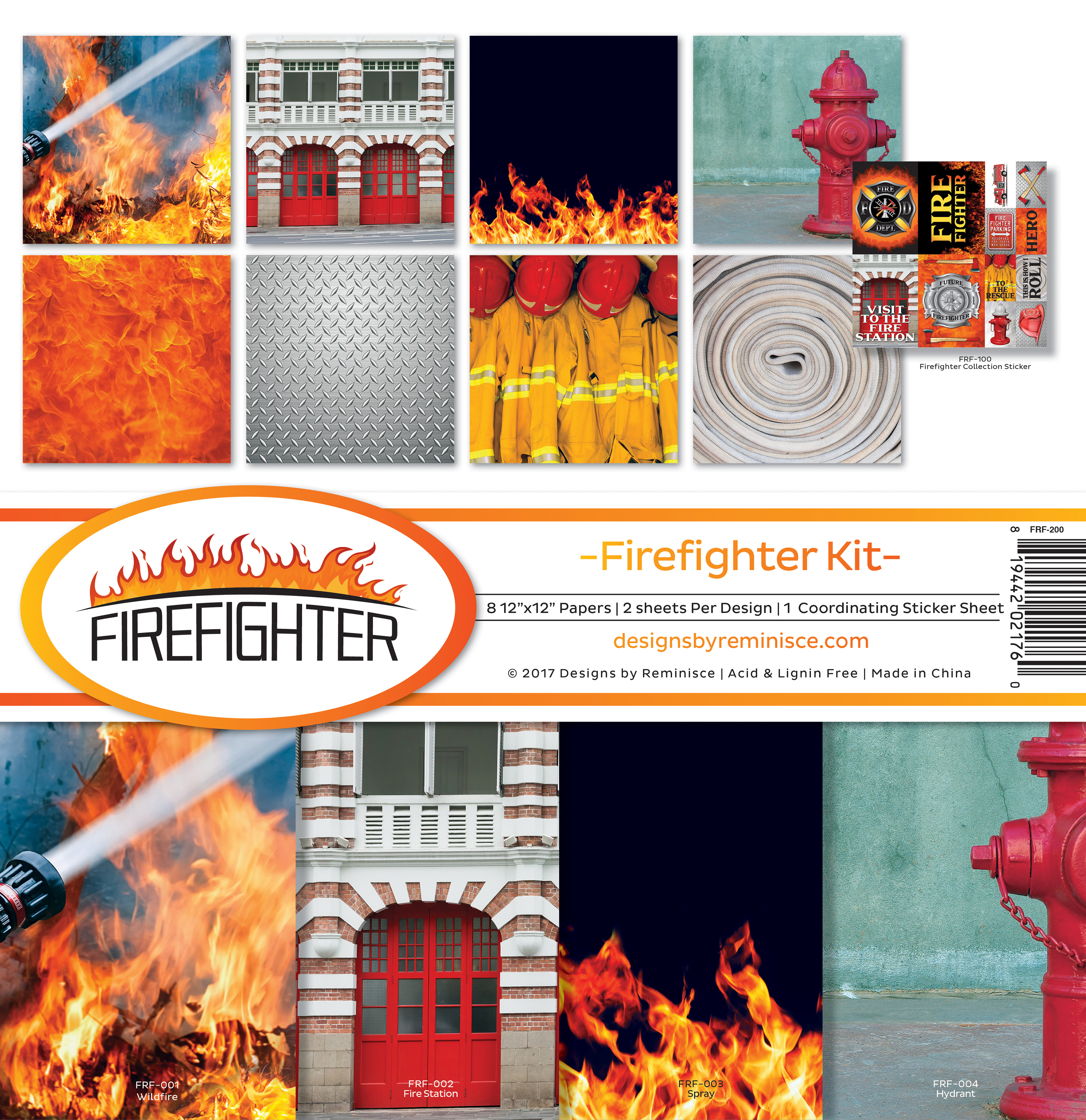"Reminisce Collection Kit 12""X12""-Firefighter Collection Kit"