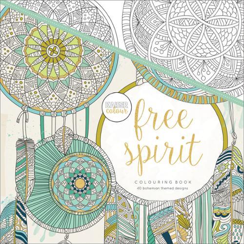 KaiserColour Perfect Bound Coloring Book, Free Spirit