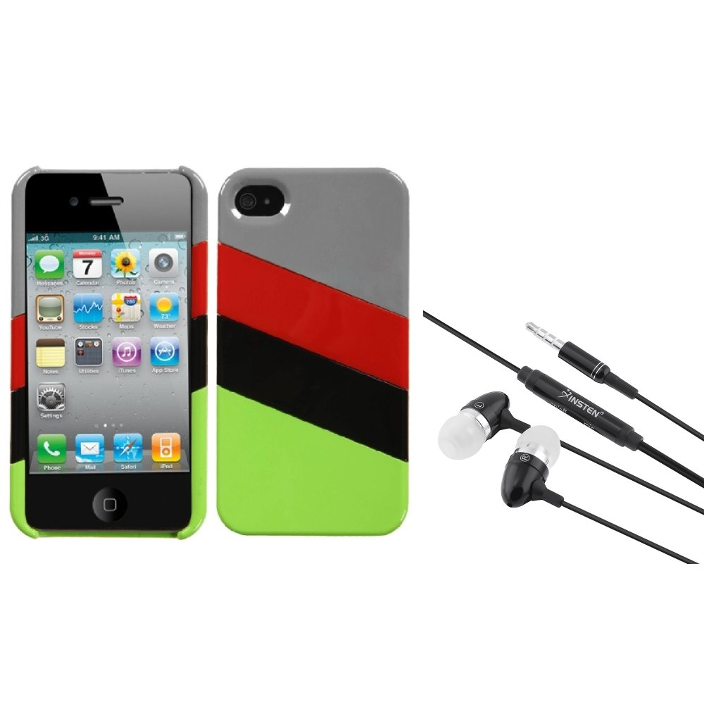 Insten MyColor Splash Case (009) (with Package) For Apple iPhone 4/4S + 3.5mm Headset