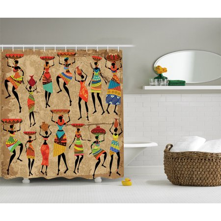 African American Art Decor Afrocentric Women In Tribal Dresses Shower Curtain