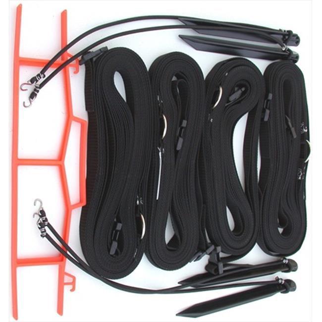 Home Court M817ABKS 8 Meter Black 1-inch Adjustable Web Courtlines