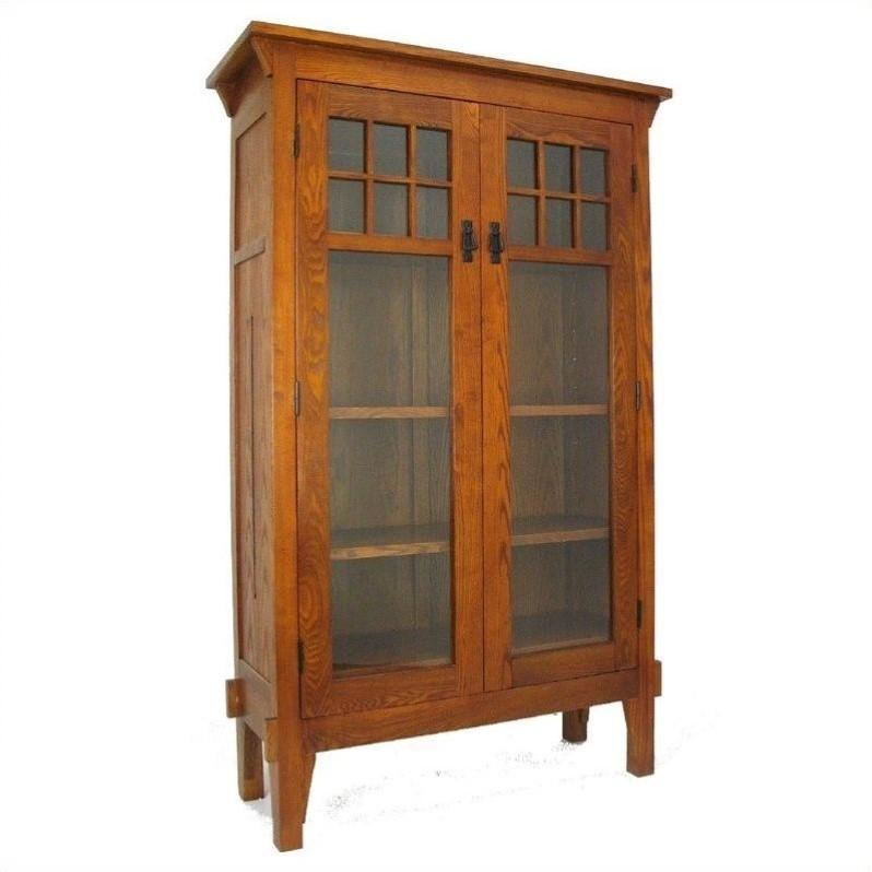 Wayborn 4 Shelf Barrister Bookcase in Oak