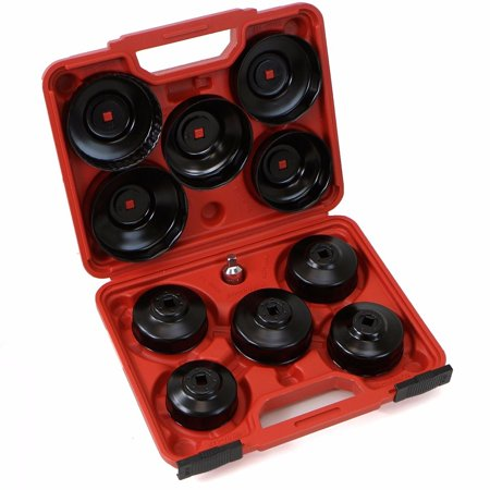 Oil Filter Socket Set (XtremepowerUS Universal 10pcs Oil Change Filter Cap Wrench Cup Socket Tool Set )