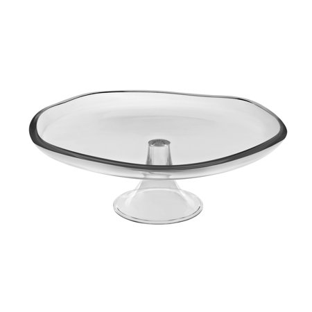 Luxury Home Majestic Gifts Quality Glass 13.75-inch Cake Plate ...