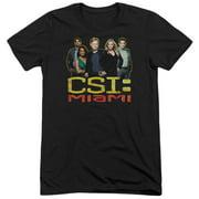 Csi Miami The Cast In Black Mens Tri-Blend Short Sleeve Shirt