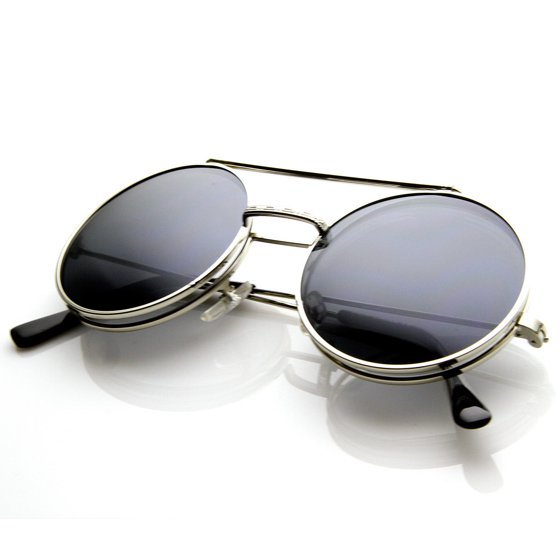 b76dd98da4 sunglasses - Limited Edition Color Flip-Up Lens Round Circle Django  Sunglasses - 8795 - Walmart.com