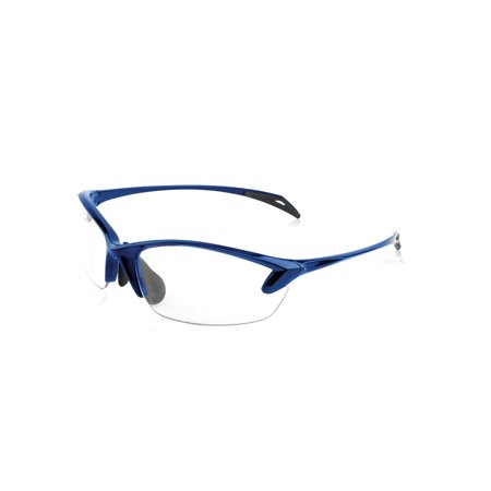 Smith & Wesson Accessories Colonel Women's Shooting Glasses, Blue Frame, Clear - Colonel Sanders Glasses