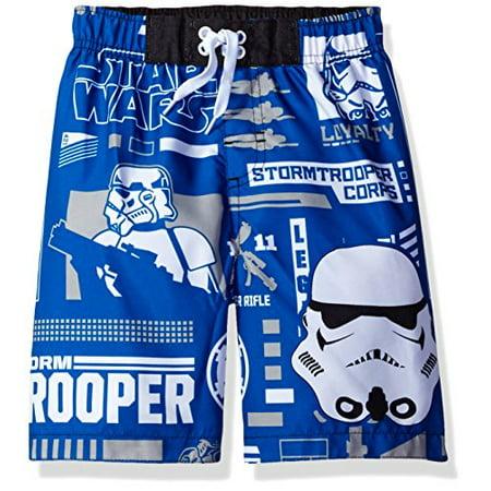 686f0e1952639 Star Wars - Star Wars Big Boys' Swim Trunk, Blue, 4 - Walmart.com