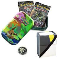 Totem World Eevee Kanto Friends Mini Tin with Ultra Ball Deck Box Bundle - Perfect for Pokemon Cards
