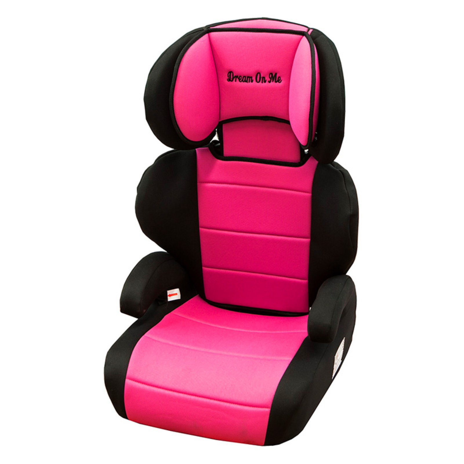 Dream On Me Deluxe High Back Booster Car Seat, Pink/Black