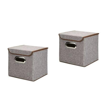 2pcs foldable clothing storage bins with lid kids toys basket cubes organizer boxes baby nursery. Black Bedroom Furniture Sets. Home Design Ideas