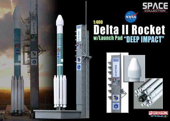 """Delta II Rocket w launch Pad """"Deep Impact"""" (1:400) by"""