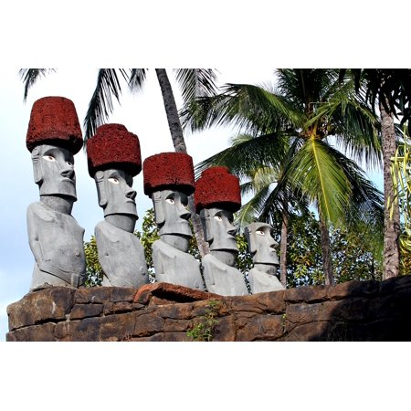 LAMINATED POSTER Statue Polynesian Cultural Center Oahu Hawaii Poster Print 24 x 36 (Polynesian Decor)