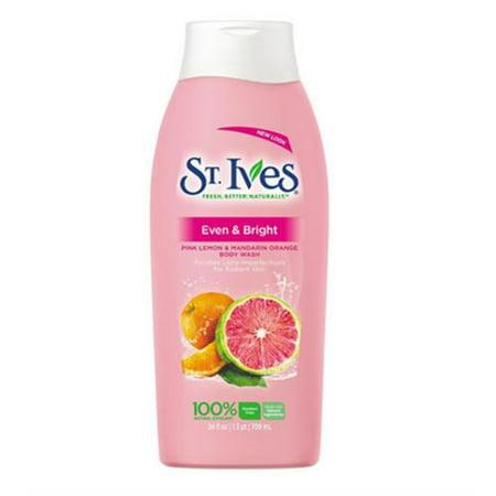 St. Ives Even & Bright Body Wash, Pink Lemon & Mandarin Oran