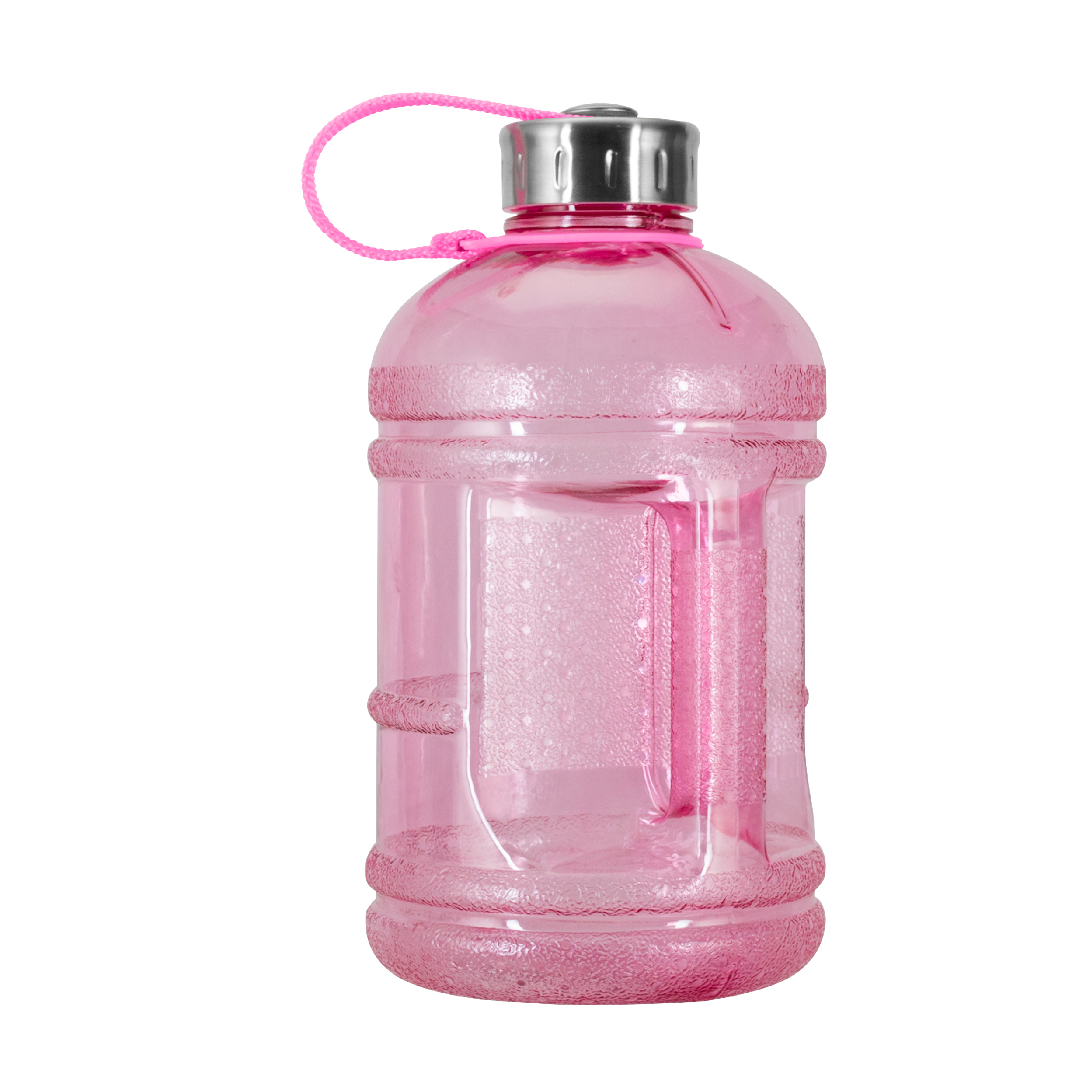 1/2 Gallon (64 oz.) BPA FREE Plastic Water Bottle w/ 48mm Steel Cap