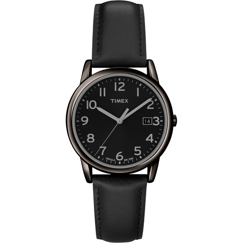Timex Men's Easy Reader Watch, Black Leather Strap by Timex