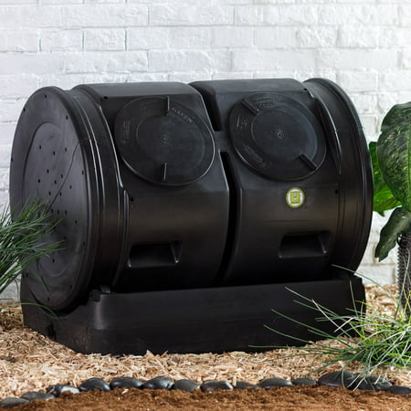 Good Ideas 7 Cubic ft. Compost Wizard with Dueling Tumbler — Black (Good Ideas Compost Bin)