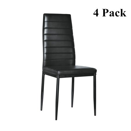 Zimtown Set of 4 Dining Side PU Leather Elegant Design Home Furniture - Back Kitchen Chair